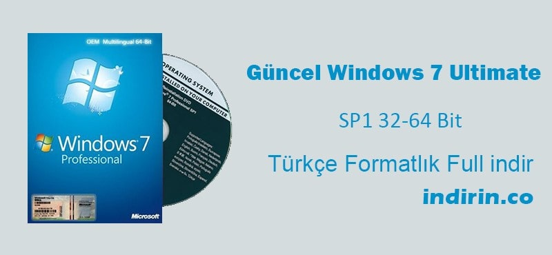 Windows 7 professional sp1 32-64 bit türkçe 2020 güncel.