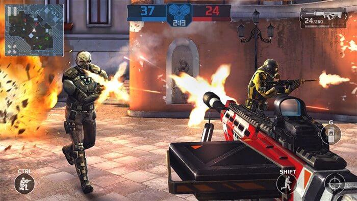 Modern Combat 5 hileli mod apk