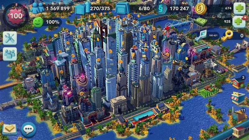 SimCity BuildIt Hileli Mod Apk İndir