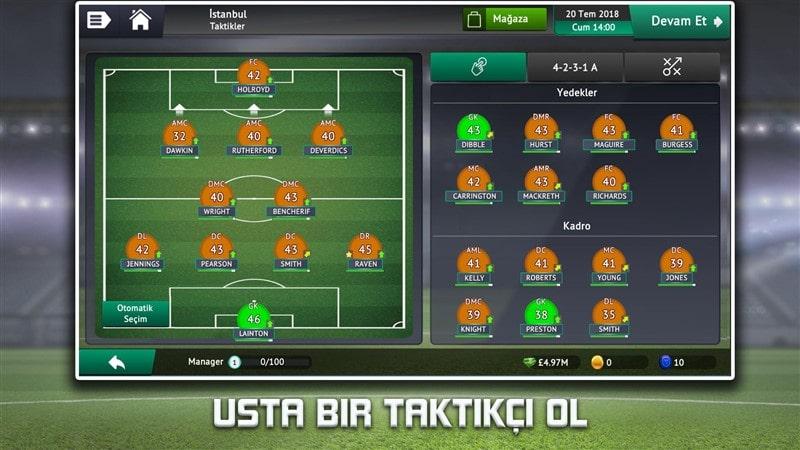 Soccer Manager 2019 Hileli Mod Apk