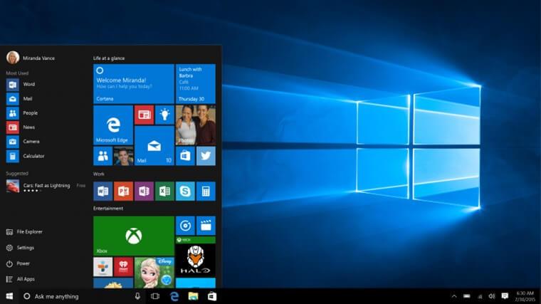 Windows 10 Tüm Sürümler İndir