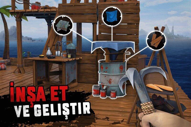 Survival on Raft Hileli Apk