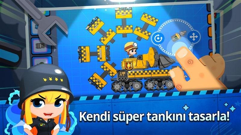 Süper Tank Çarpışması Hileli Apk İndir
