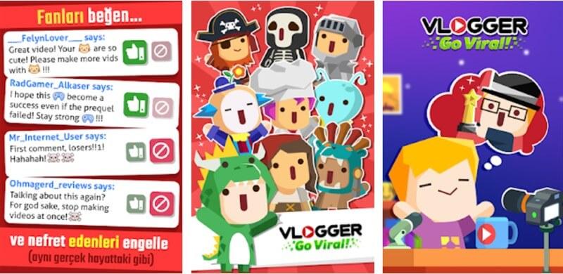 Vlogger Go Viral Clicker Hileli Apk İndir