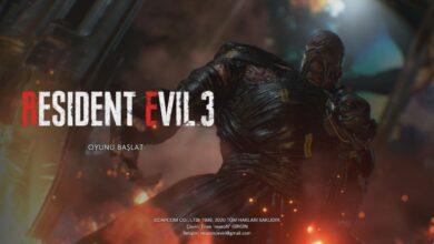 Resident Evil 3 Türkçe Yama